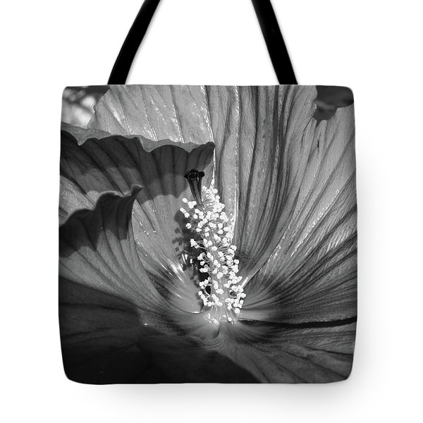 Hibiscus Black And White Tote Bag