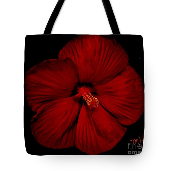 Hibiscus By Moonlight Tote Bag