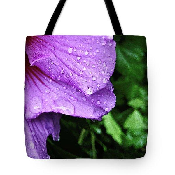 Hibiscus Corner Tote Bag