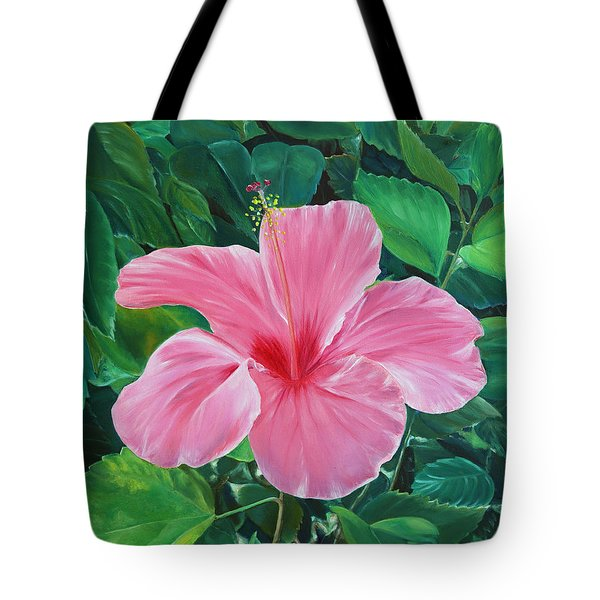 Tote Bag featuring the painting Hibiscus by Elizabeth Lock