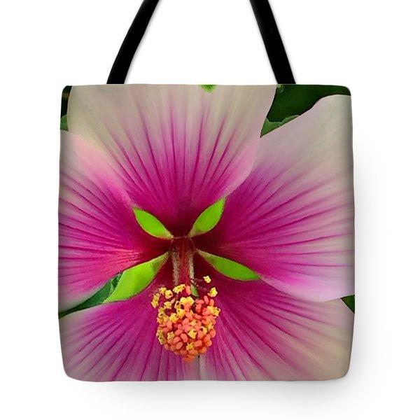 Hibiscus Face Tote Bag