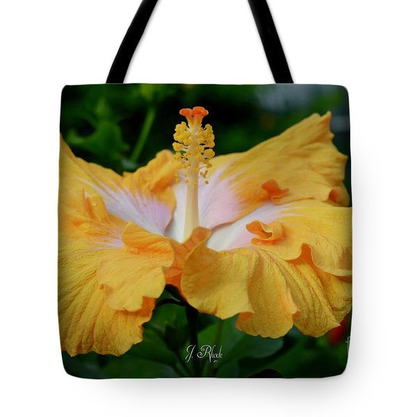 Hibiscus Golden Mist Tote Bag