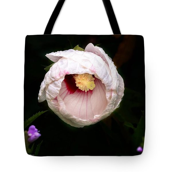 Tote Bag featuring the photograph Hibiscus In Bloom by Jackson Pearson