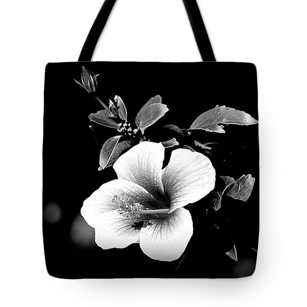 Tote Bag featuring the photograph Hibiscus In The Dark by Lori Seaman