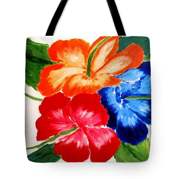 Tote Bag featuring the painting Hibiscus by Jamie Frier