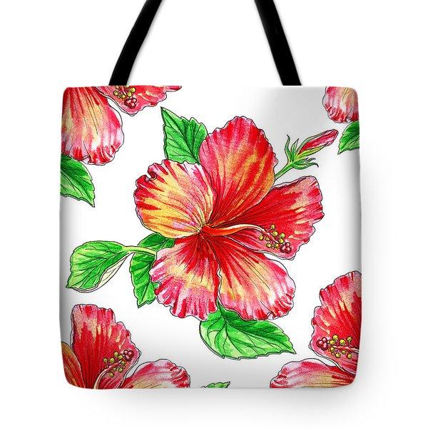 Hibiscus Magic Garden Tote Bag