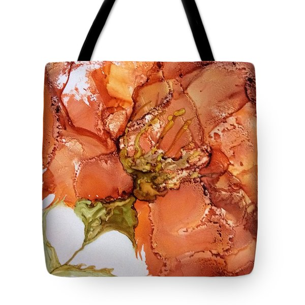 Tote Bag featuring the painting Hibiscus by Pat Purdy