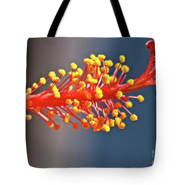 Hibiscus Pistil Tote Bag by Robert Bales