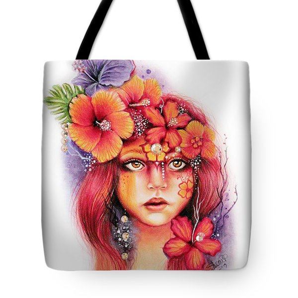 Hibiscus Tote Bag by Sheena Pike