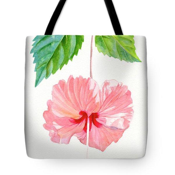 Hibiscus Sprinkle Rain, Rosa Sinensis Tote Bag