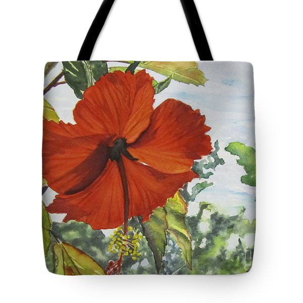 Hibiscus St Thomas Tote Bag by Carol Flagg