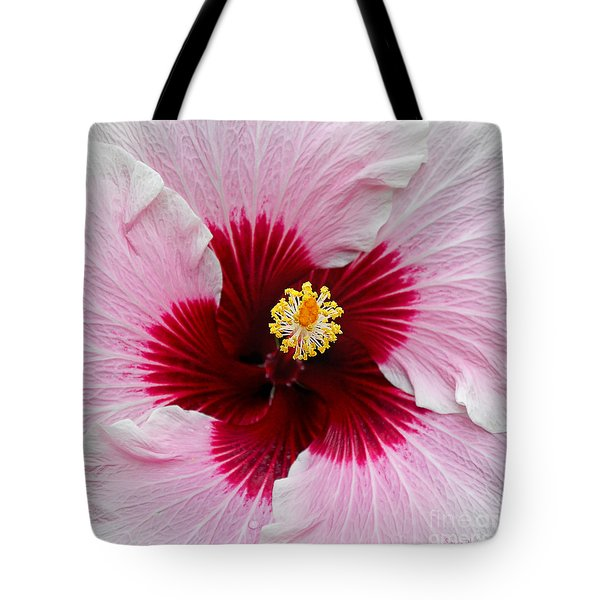 Hibiscus With Cherry-red Center Tote Bag