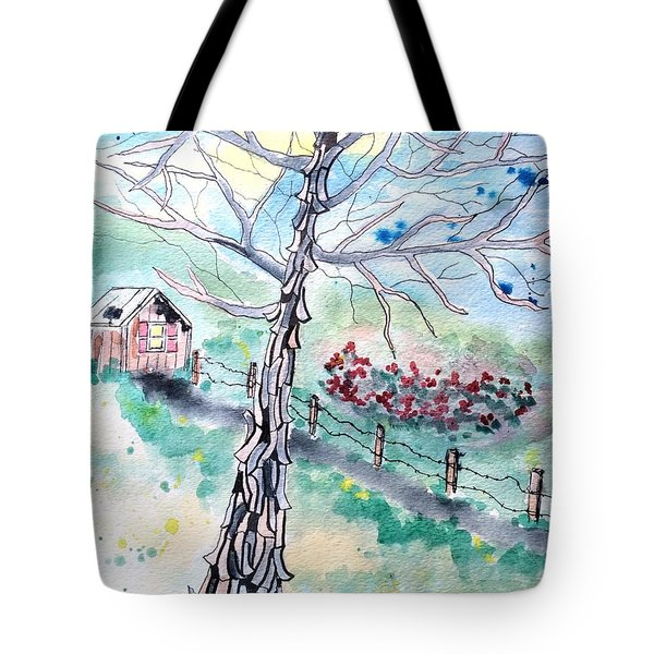 Tote Bag featuring the painting Hickory by Denise Tomasura