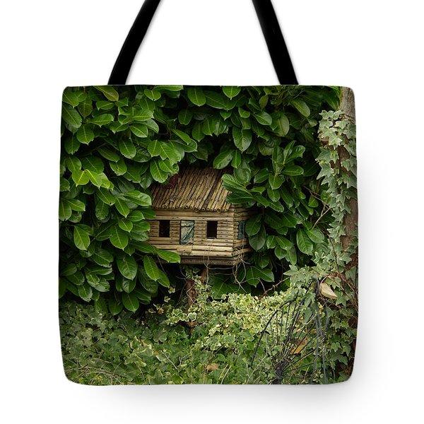 Hidden Birdhouse Tote Bag