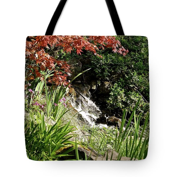 Tote Bag featuring the photograph Hidden Cascade by Michele Myers