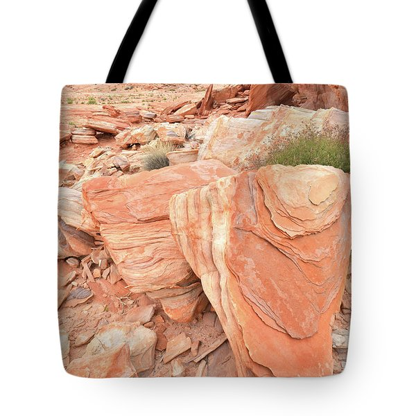 Tote Bag featuring the photograph Hidden Cove In Valley Of Fire by Ray Mathis