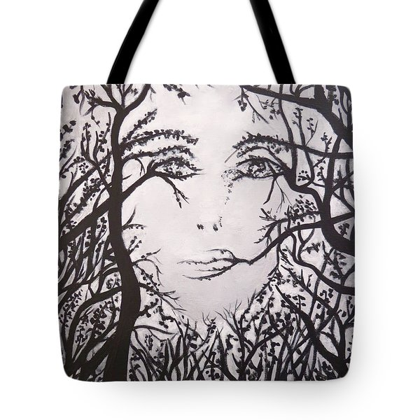 Hidden Face Tote Bag