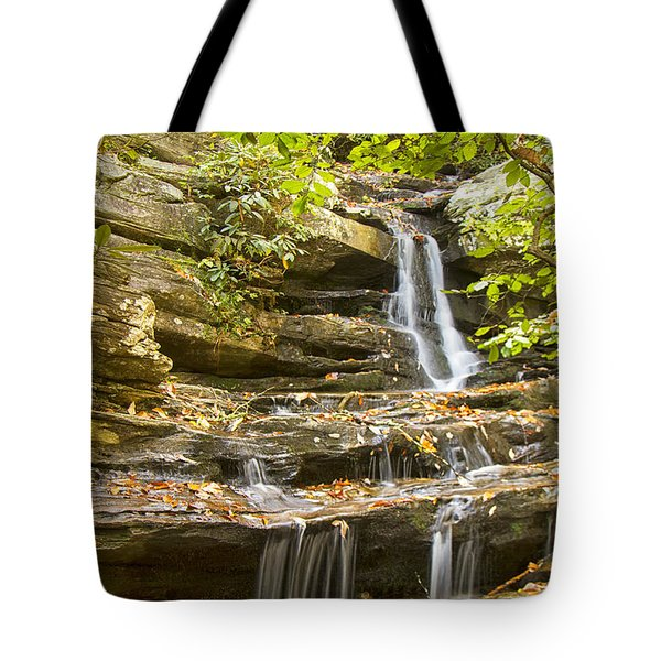 Hidden Falls-hanging Rock State Park Tote Bag