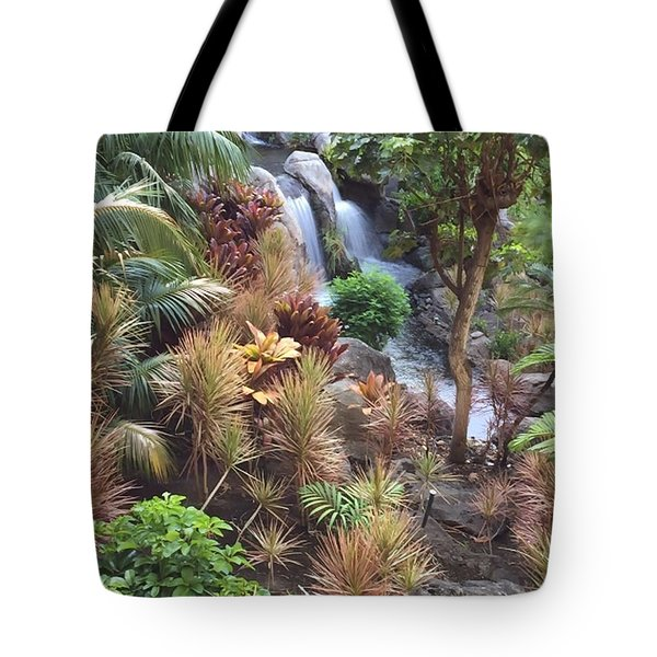Hidden Falls Tote Bag by Russell Keating