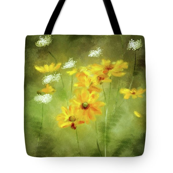 Tote Bag featuring the digital art Hidden Gems by Lois Bryan
