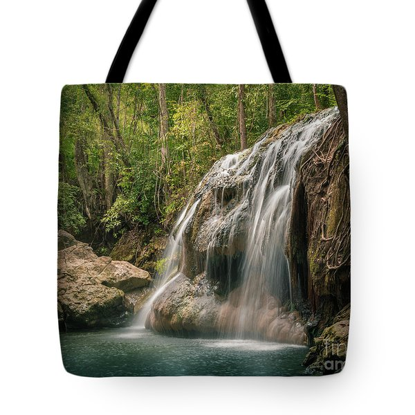 Tote Bag featuring the photograph Hidden In The Jungle Of Guatemala by Jola Martysz