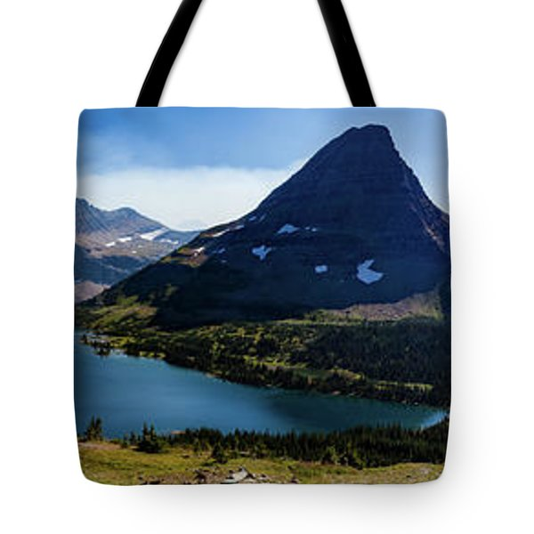 Tote Bag featuring the photograph Hidden Lake Panorama At Glacier National Park by Lon Dittrick
