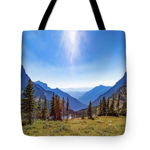 Tote Bag featuring the photograph Hidden Lake Valley Glacier National Park by Lon Dittrick