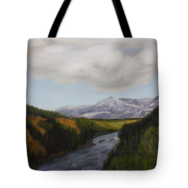 Hidden Mountains Tote Bag