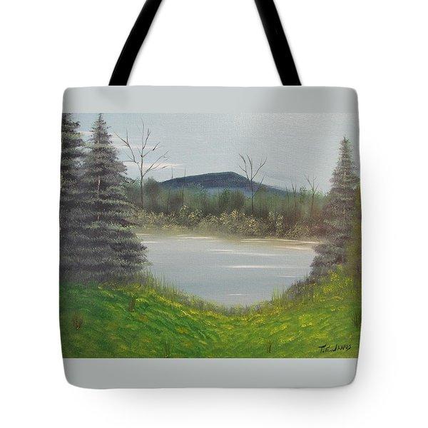 Hidden Pond  Tote Bag