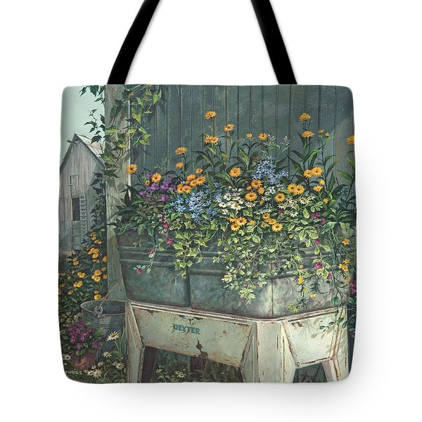 Tote Bag featuring the painting Hidden Treasures by Michael Humphries