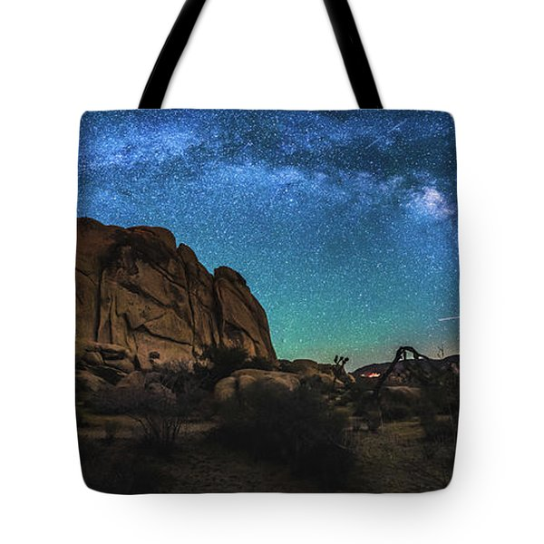 Hidden Valley Milky Way Panorama Tote Bag by Robert Loe