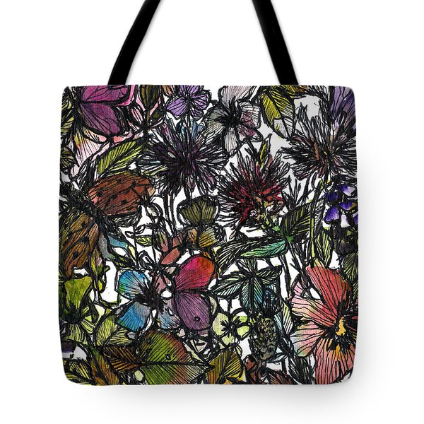 Hide And Seek In Wildflower Bushes Tote Bag by Garima Srivastava