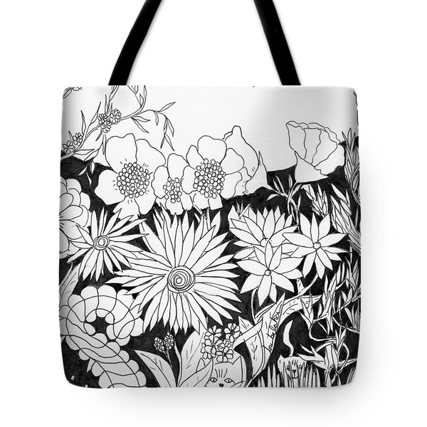 Tote Bag featuring the painting Hide And Seek by Lou Belcher