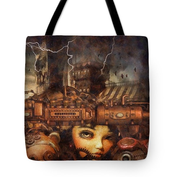 Tote Bag featuring the drawing Hide And Seek by Mo T