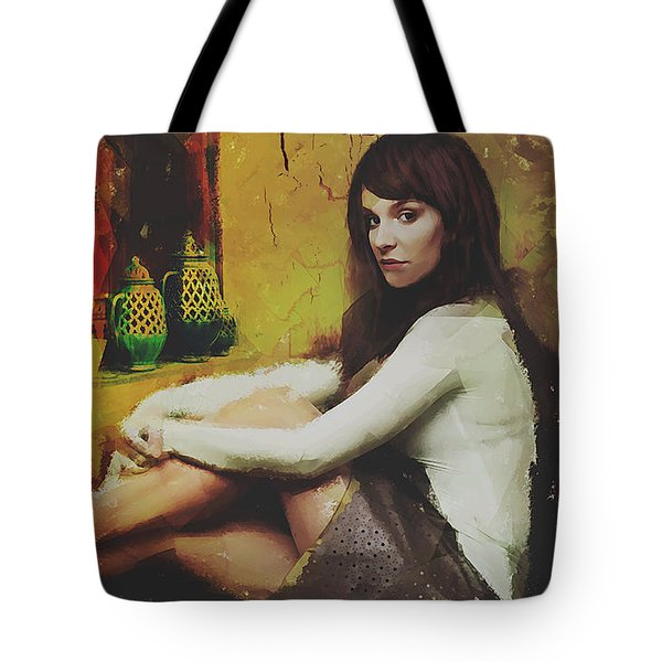 Tote Bag featuring the digital art Hideaway by Galen Valle
