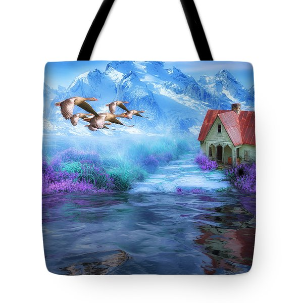 Hideaway In The Mountains Tote Bag