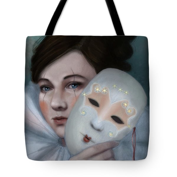 Hiding Behind Masks Tote Bag
