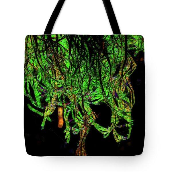 Hiding Behind The Mistletoe Tote Bag