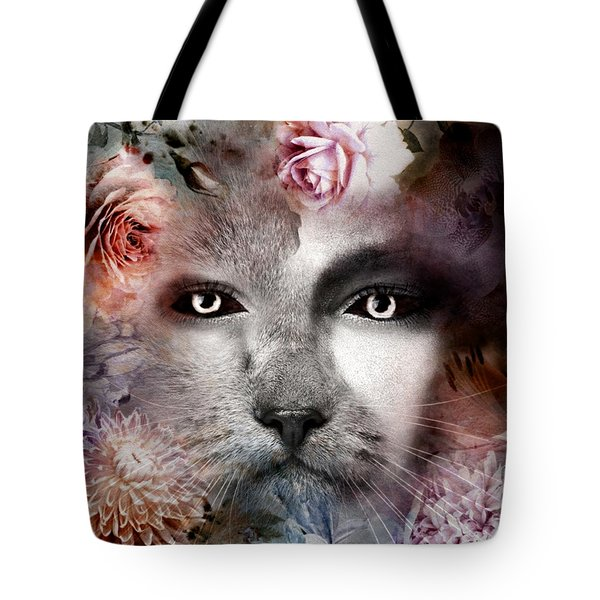 Hiding Catlady Tote Bag