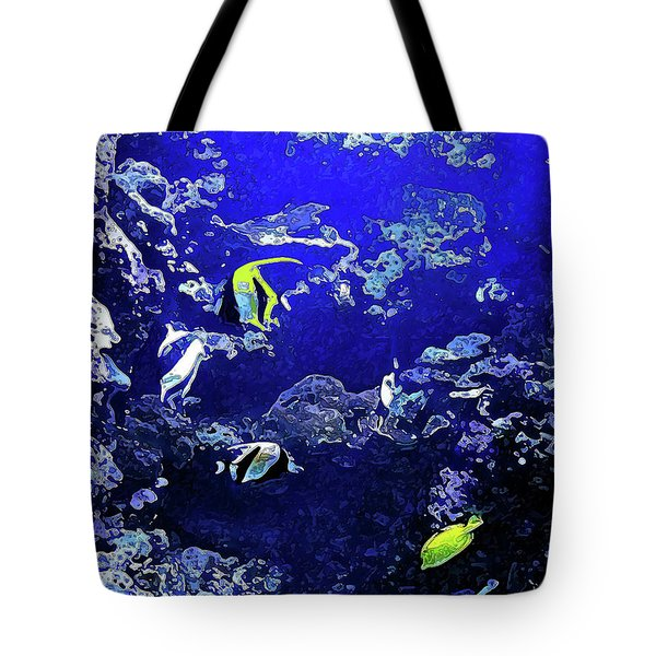 Hiding Fish Tote Bag