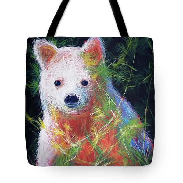Tote Bag featuring the painting Hiding In The Vines by Angela Treat Lyon