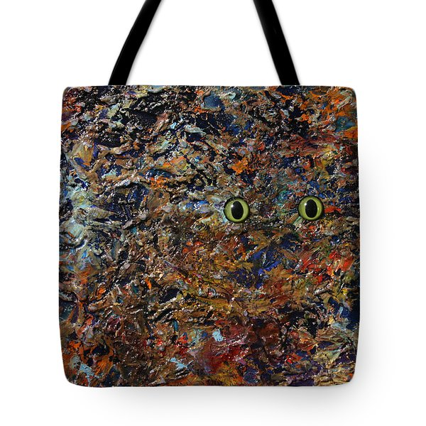 Hiding Tote Bag by James W Johnson