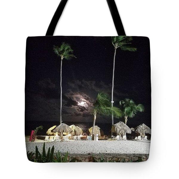 Hiding Moon Tote Bag