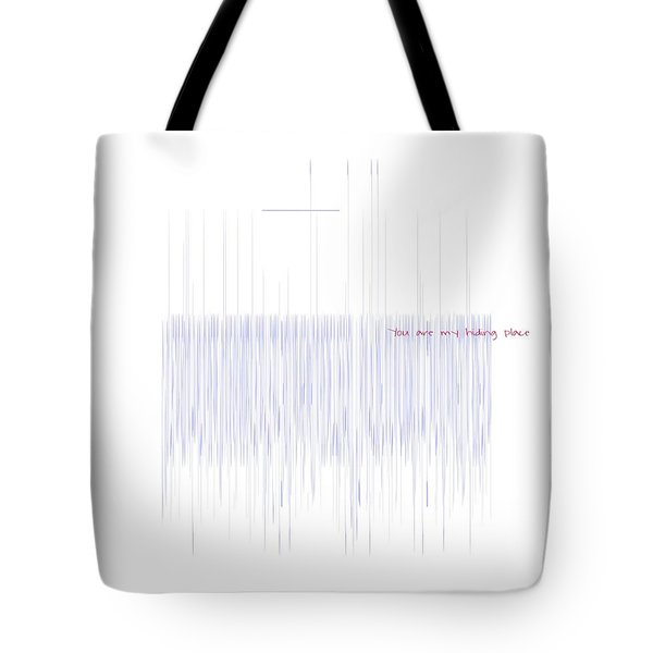 Tote Bag featuring the mixed media Hiding Place by Jessica Eli