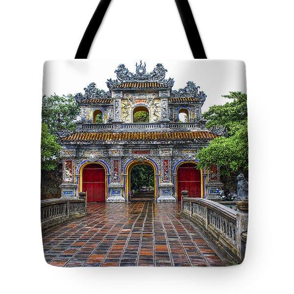 Hien Nhon Gate, Citadel, Hue,vietnam Tote Bag
