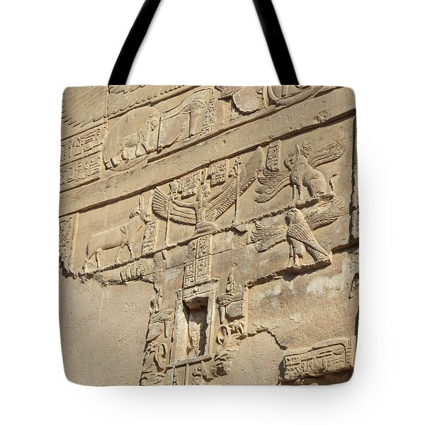 Tote Bag featuring the photograph Hieroglyphic by Silvia Bruno