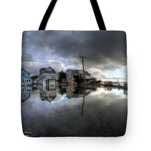 Higbee Flooding Tote Bag by John Loreaux