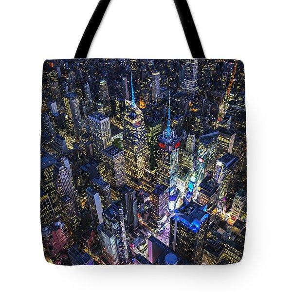 High Above The City Tote Bag by Roman Kurywczak
