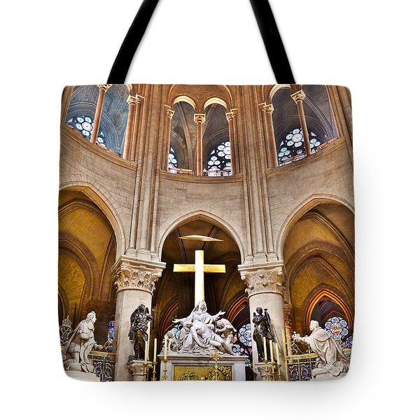 High Alter Notre Dame Cathedral Paris France Tote Bag