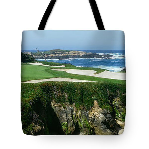High Angle View Of A Golf Course Tote Bag